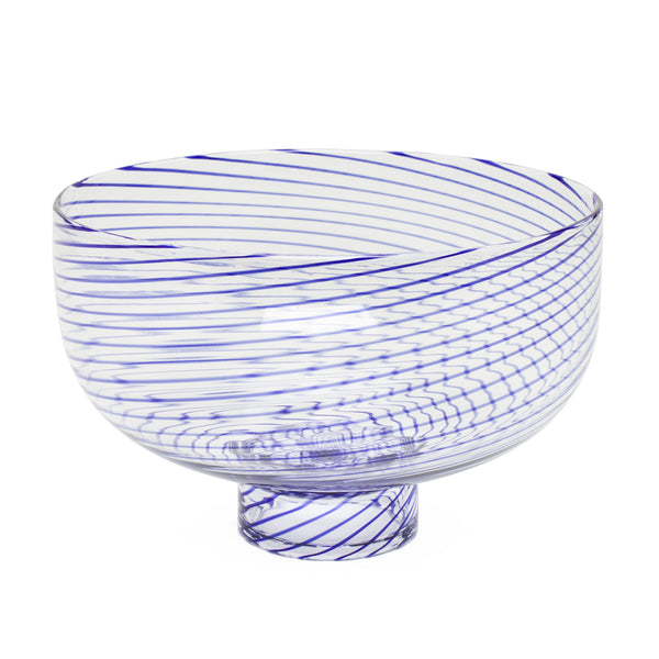 Decorative Footed Bowl by Laurence Brabant Éditions - Large Blue