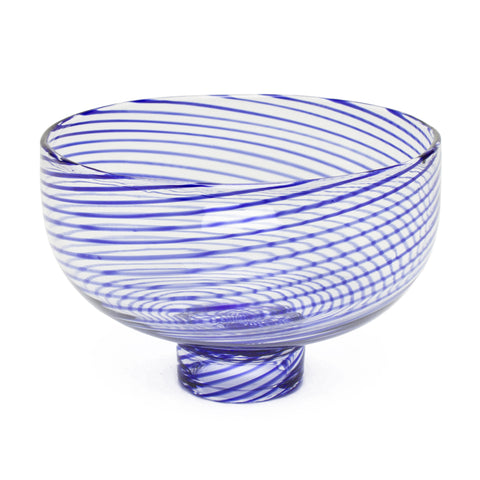 Decorative Footed Bowl by Laurence Brabant Éditions - Small Blue