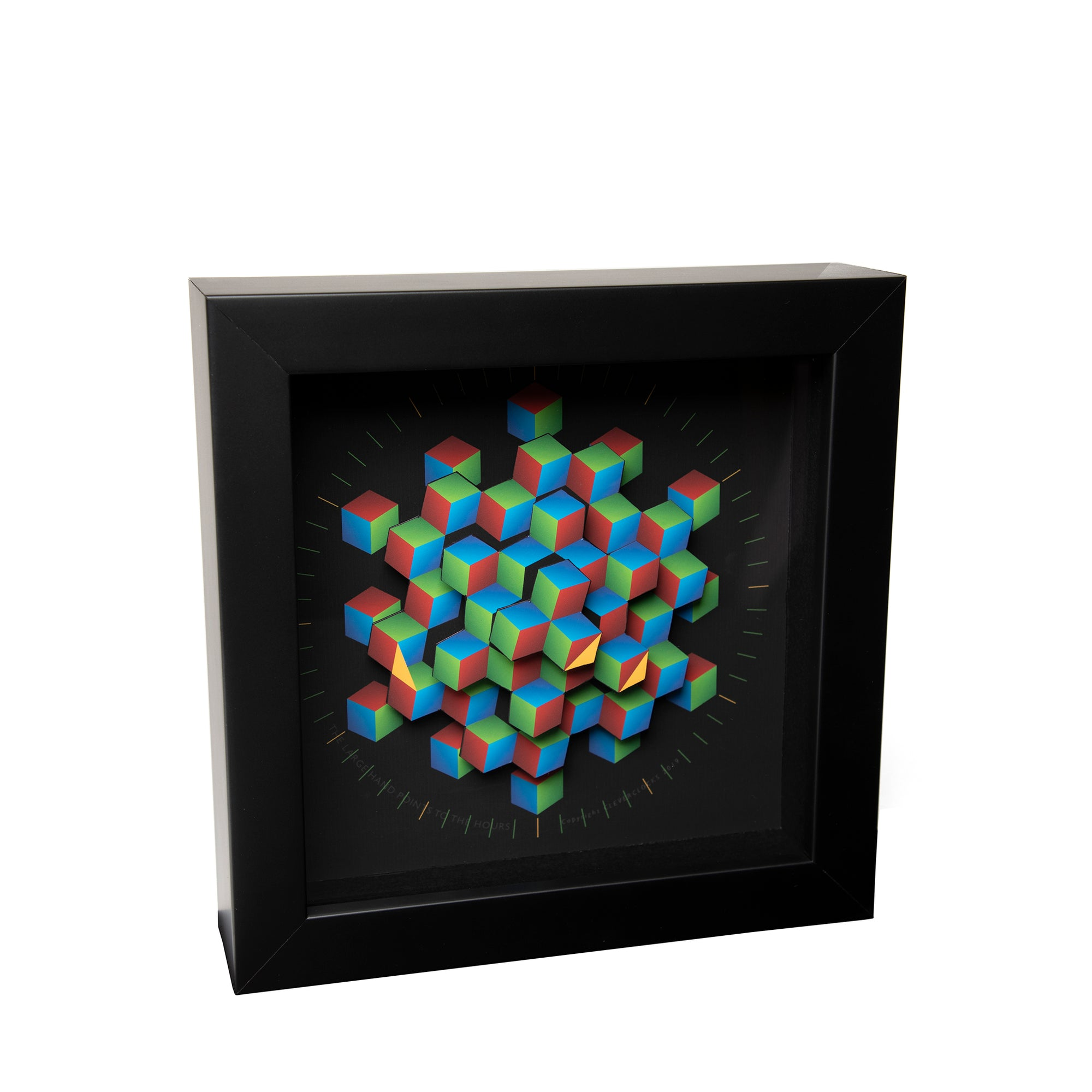 Colorful Hexagon Desk Clock - 9"