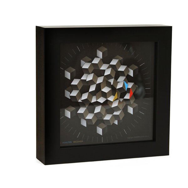 "Cleverclock: Hexagon 9"" Wall Clock"