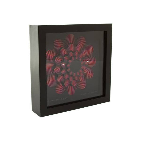 Red Ribbon Wall Clock - 9""