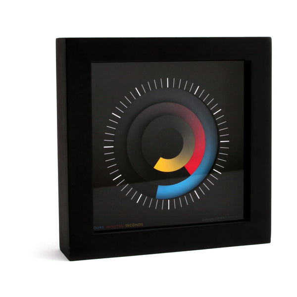 "Cleverclock: Multi-Color Sonar 5"" Wall Clock"