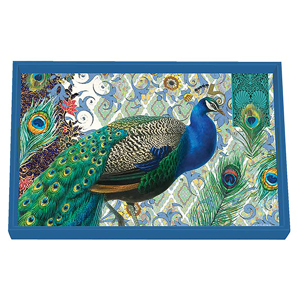 Peacock Wooden Vanity Tray