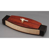 Exotic Woods Box- Padauk Oval with Aluminum Handle | Getty Store