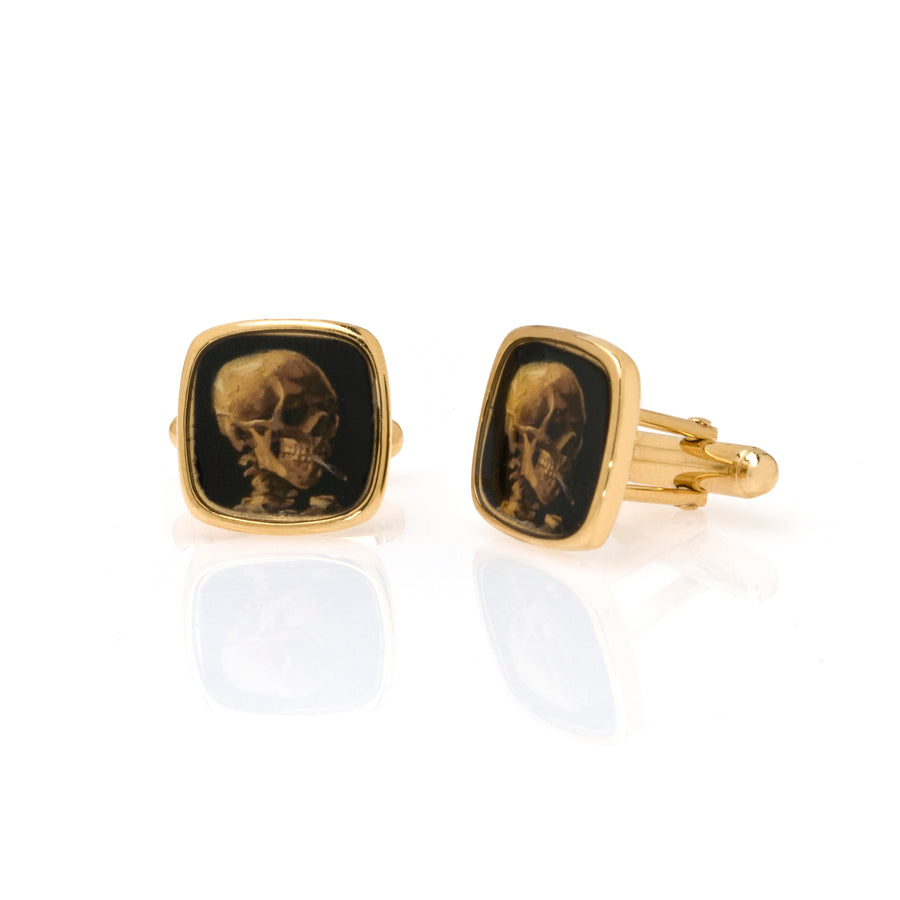 Van Gogh Skull Cuff Links