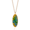 Van Gogh Irises Oval Pendant Necklace