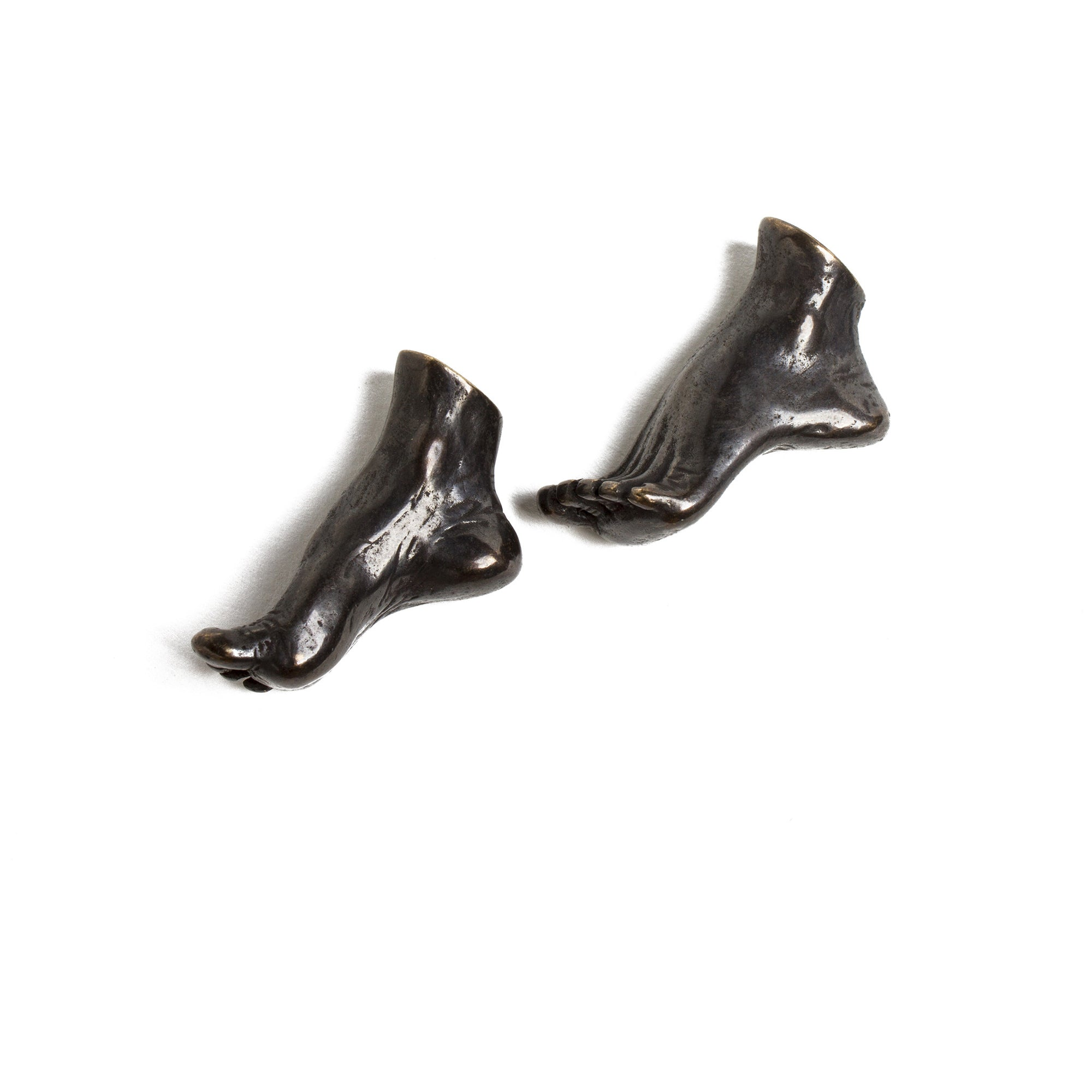 Pair of Miniature cast Bronze Arched Feet | Getty Store