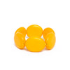 Yellow Flat Round Disc Bracelet