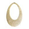 Gold Leather Fringe Necklace