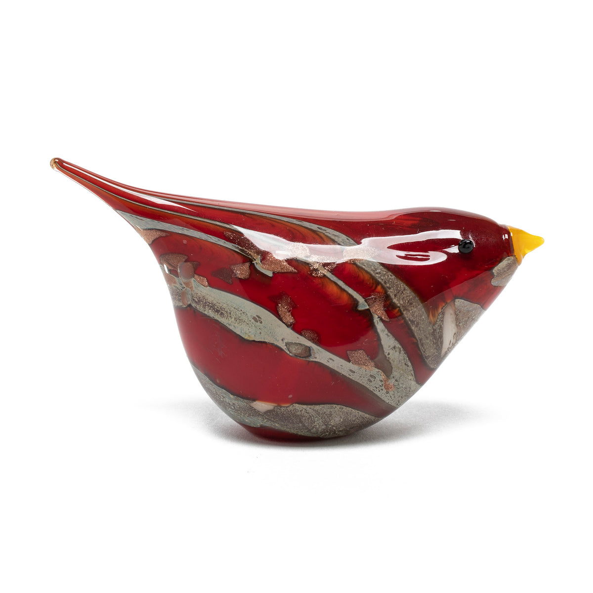 Murano Glass Bird - Red