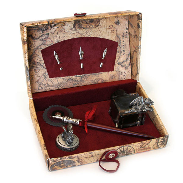 Calligraphy Set with Dragon Inkwell
