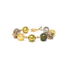 Murano Glass Bracelet - Gold & Green