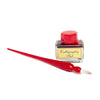 Italian Glass Calligraphy Pen with Bottle of Fine Calligraphy Ink - Red