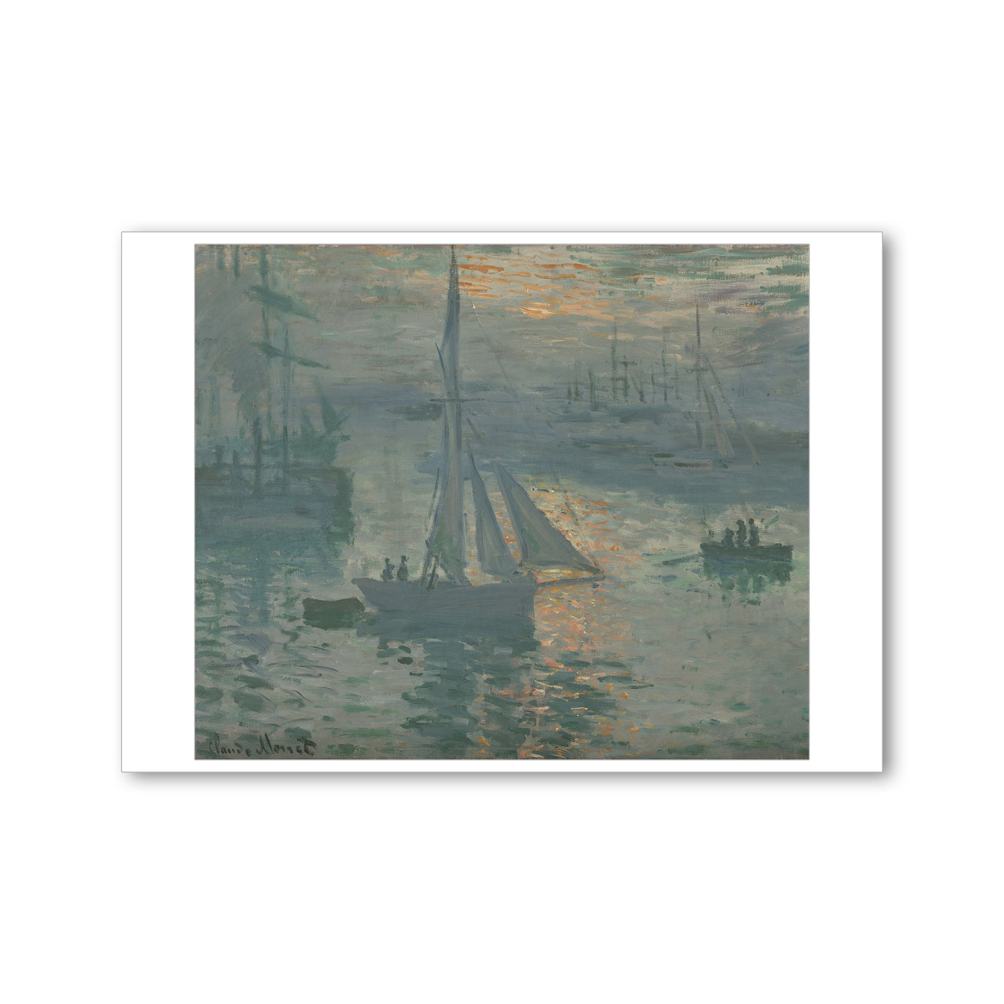 Monet-Sunrise (Marine) - Postcard | Getty Store
