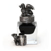 Pewter Dragon Inkwell