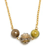 Murano Glass Necklace - Gold & Green