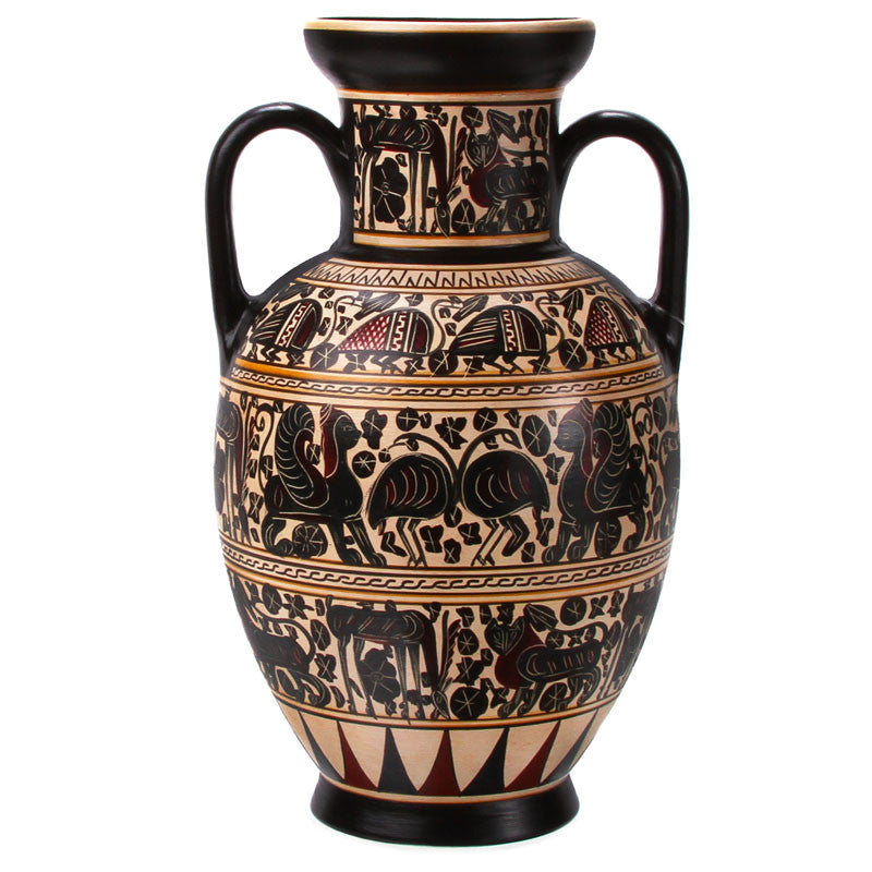 "Greek Vase - Amphora - Replica (8 1/2 "" H)"