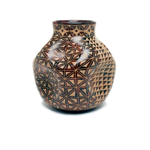 Ceramic Crinkle Pot - Handcrafted in Nicaragua