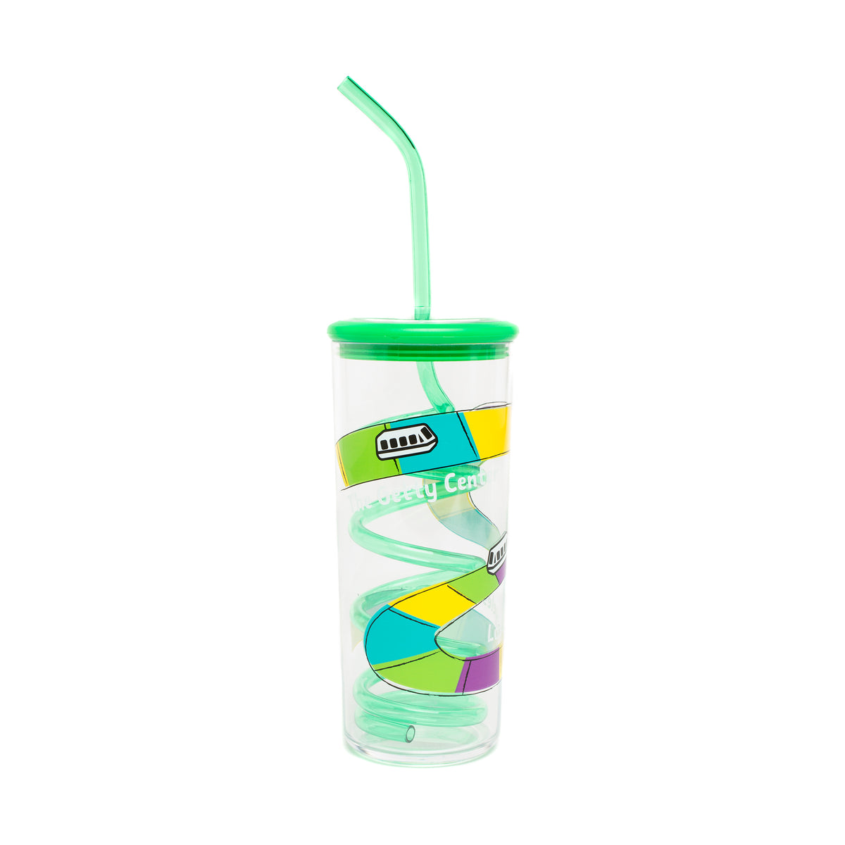 Getty Tram Silly Straw Cup-Green | Getty Store