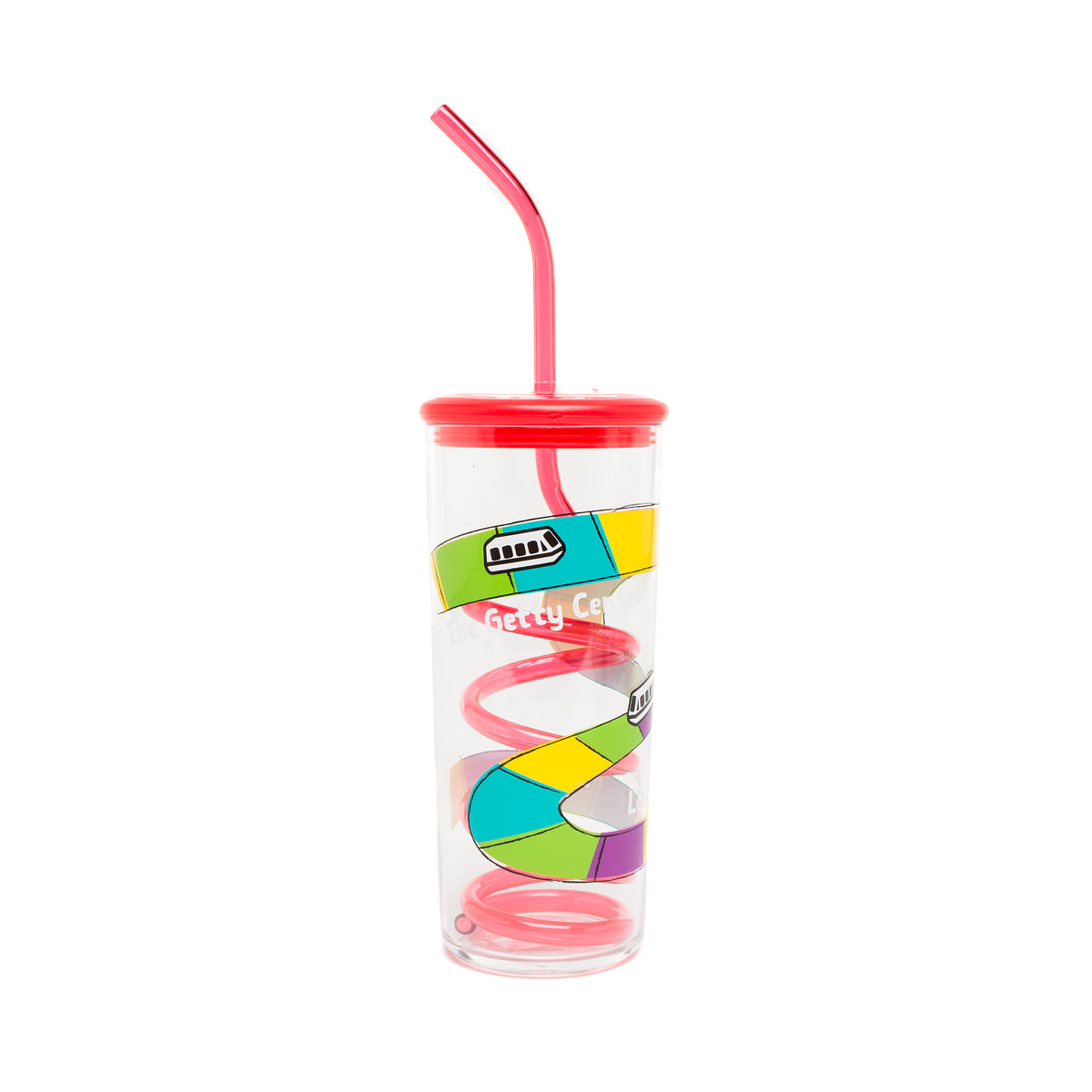 Getty Tram Silly Straw Cup-Red | Getty Store