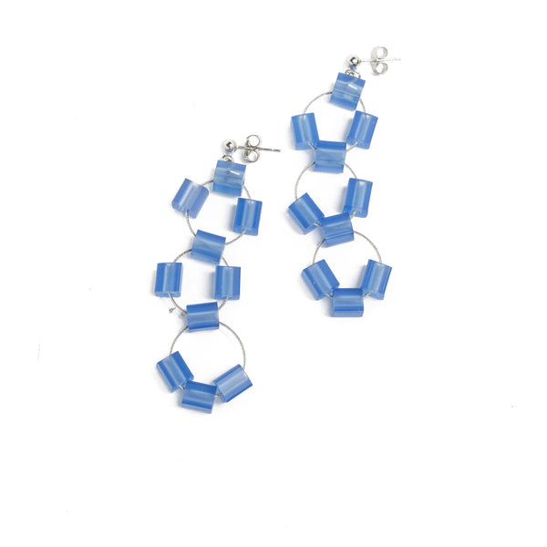 Blue Cube Earrings