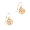 Etruscan Rosette Earrings - Single Drop