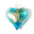 Handblown Murano Glass Heart Ornament