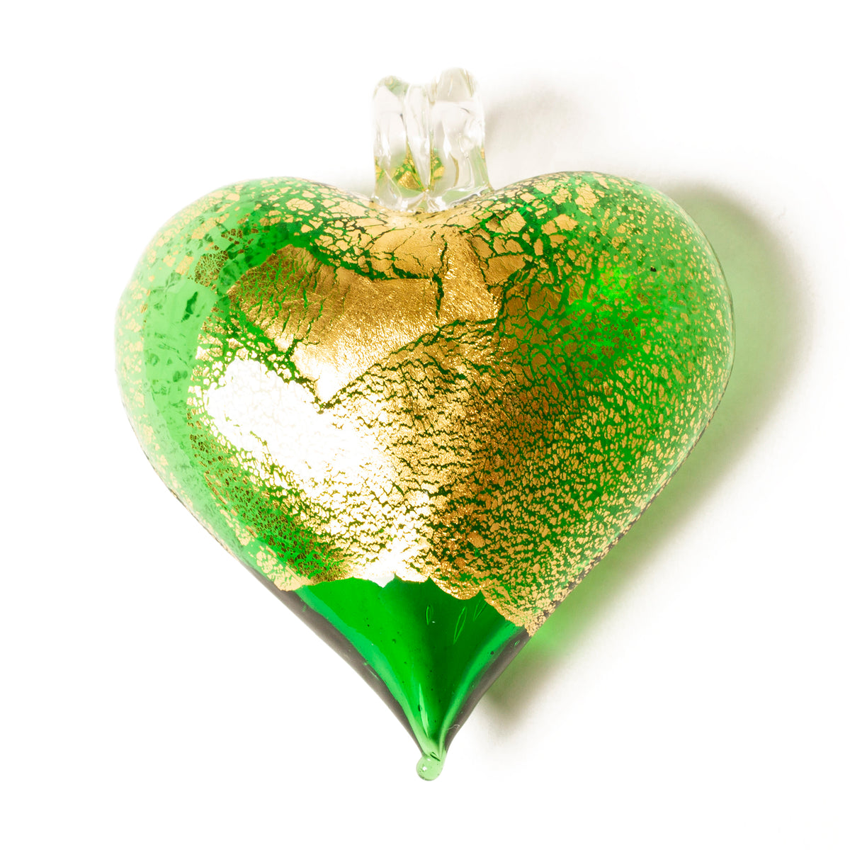 Hand Blown Glass Heart Ornament | Getty Store