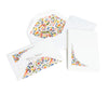 Florentine Folded Stationery Cards - Gold & Red