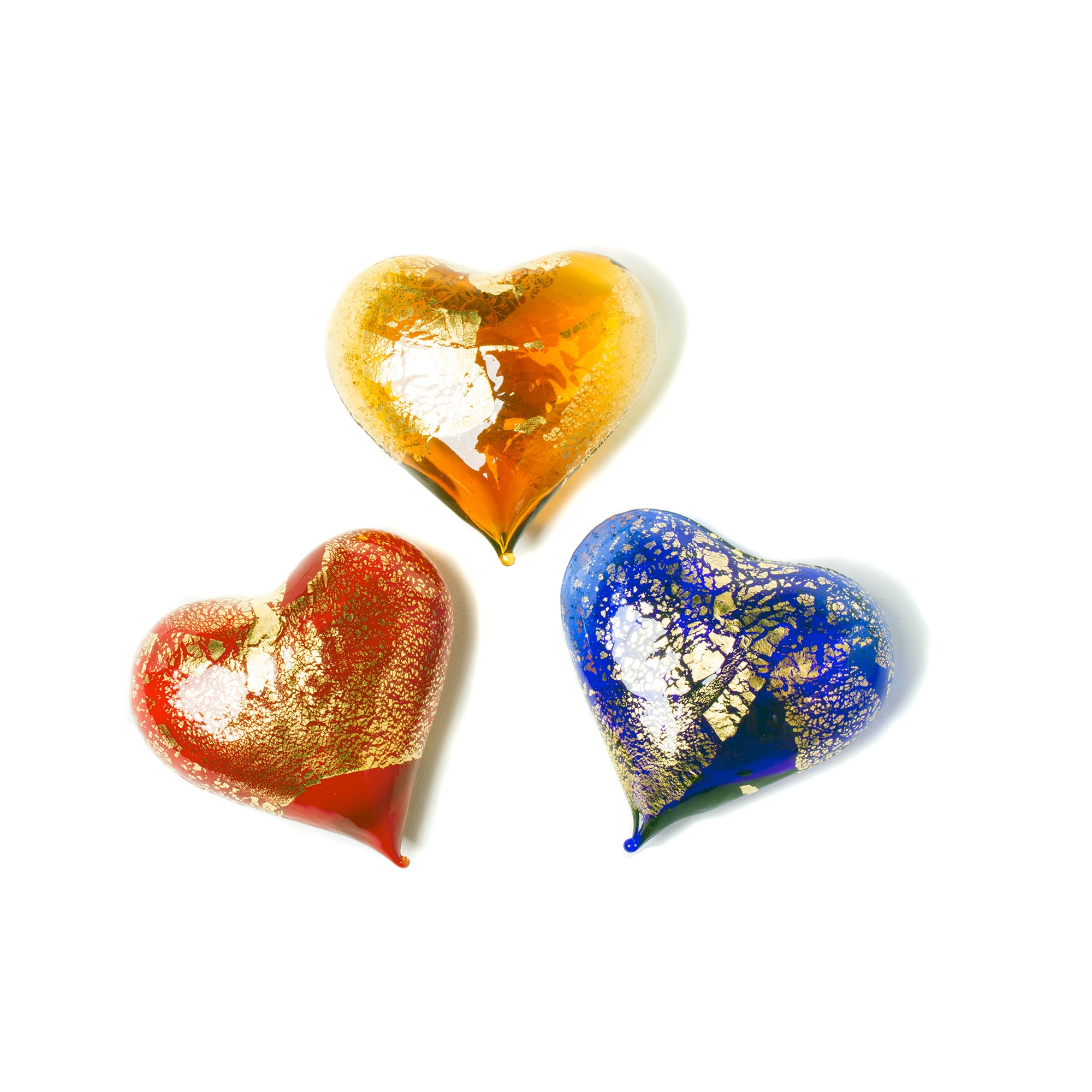 Small Murano Blown Glass Heart