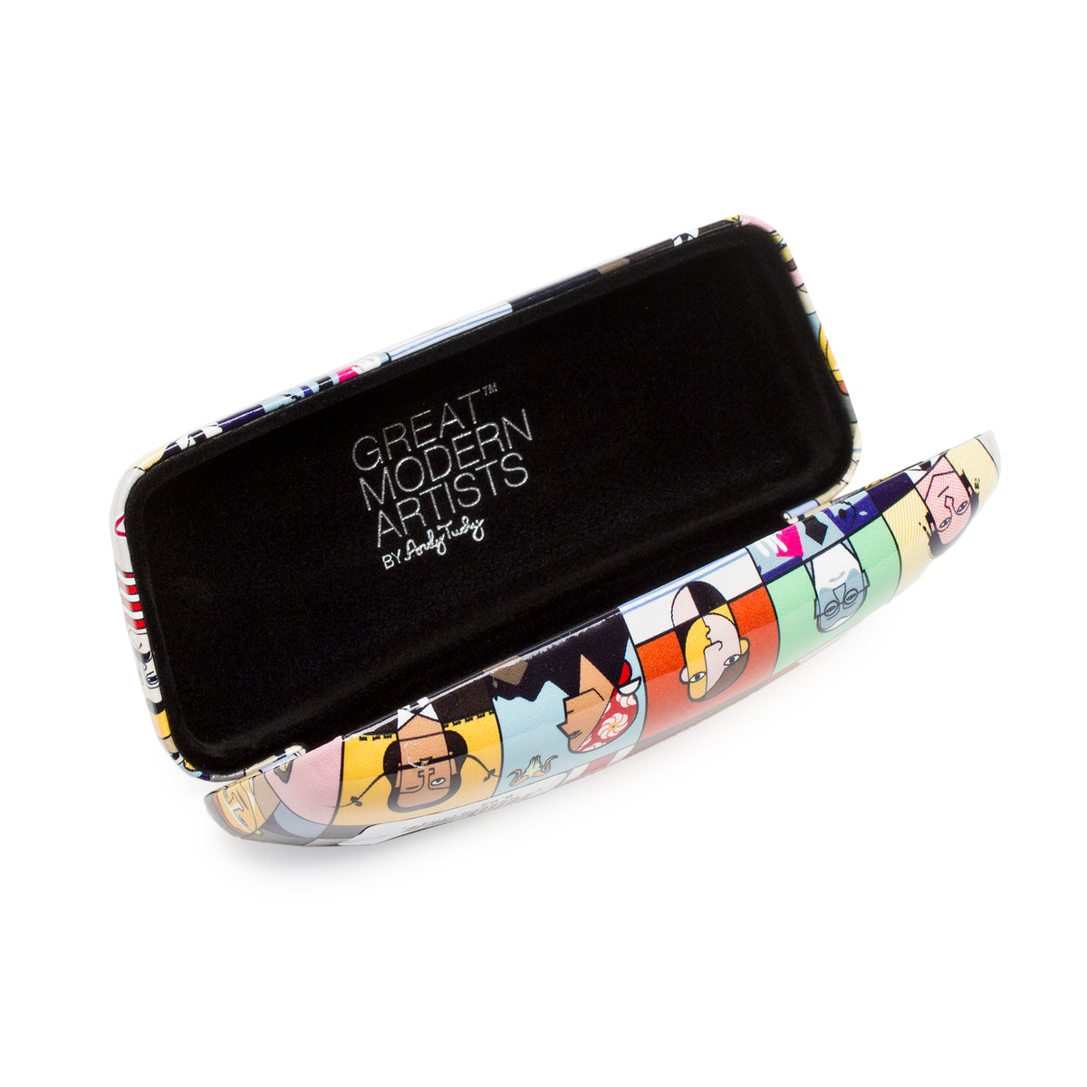 Great Modern Artist Glasses Case shown open | Getty Store