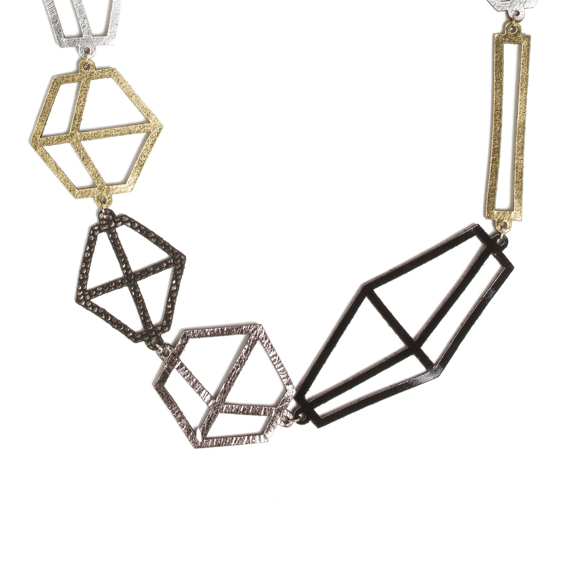 Long Leather Molecule Necklace | Getty Store