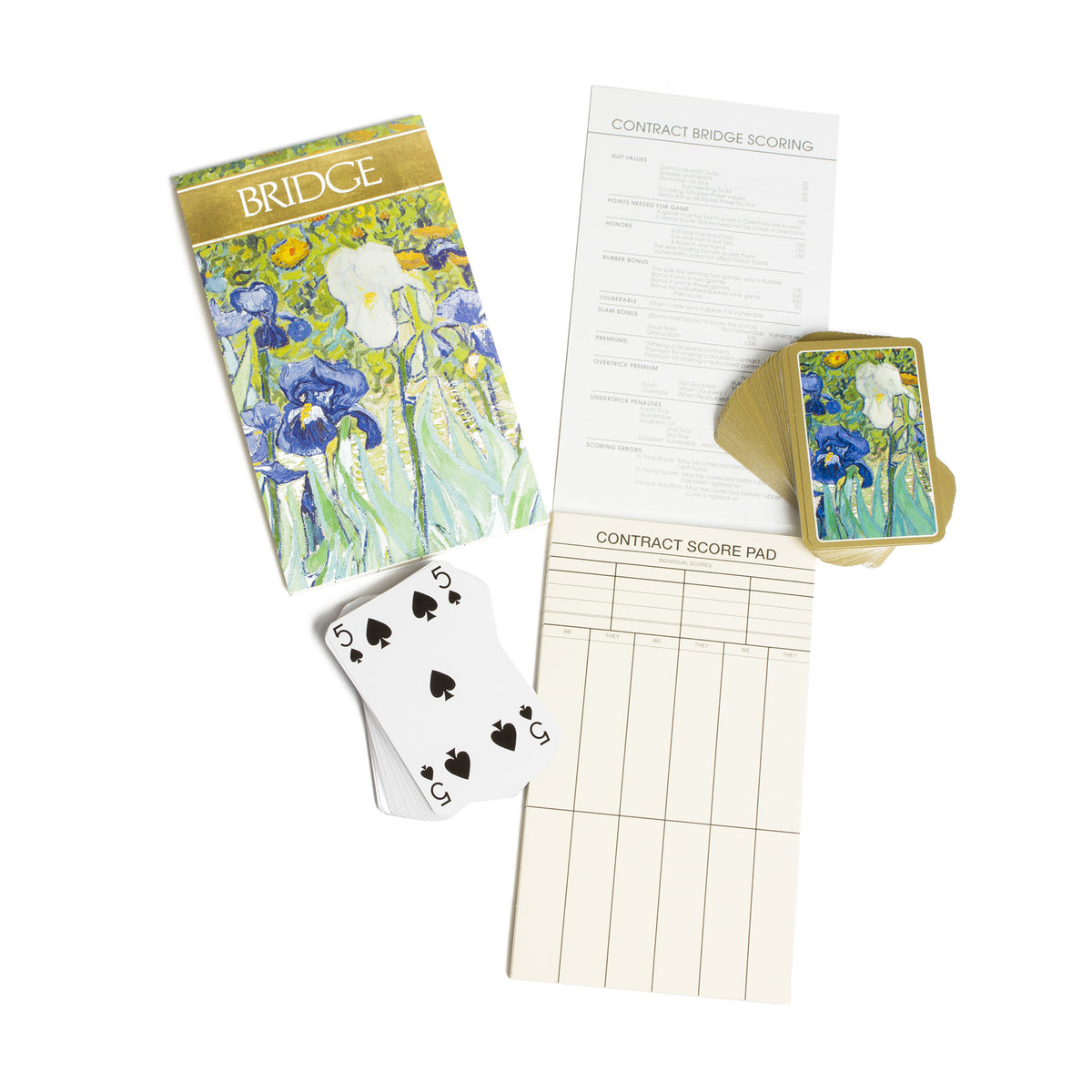 Van Gogh Irises - Bridge Gift Set- Van Gogh playing cards and score cards | Getty Store
