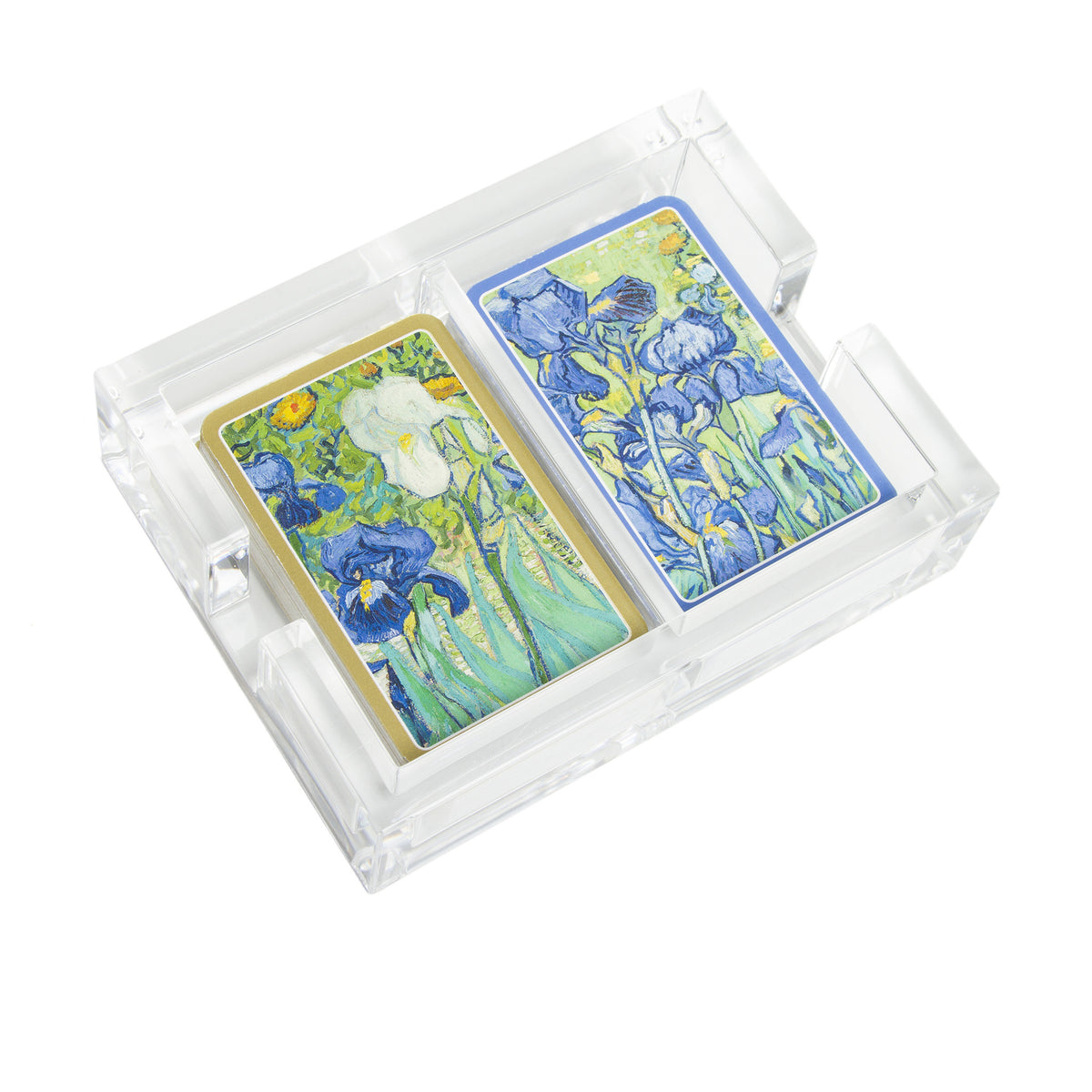 Van Gogh Irises Playing Cards in Acrylic Holder-2 Decks per Box | Getty Store