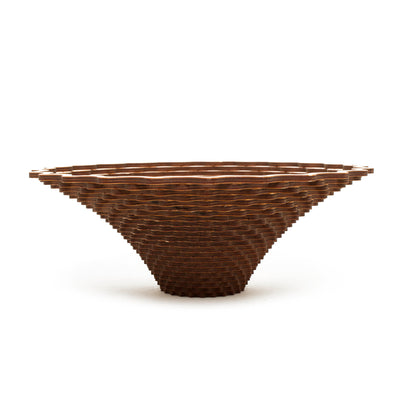 Large Weave Wood Bowl