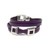 Leather Double Wrap Bracelet - Purple