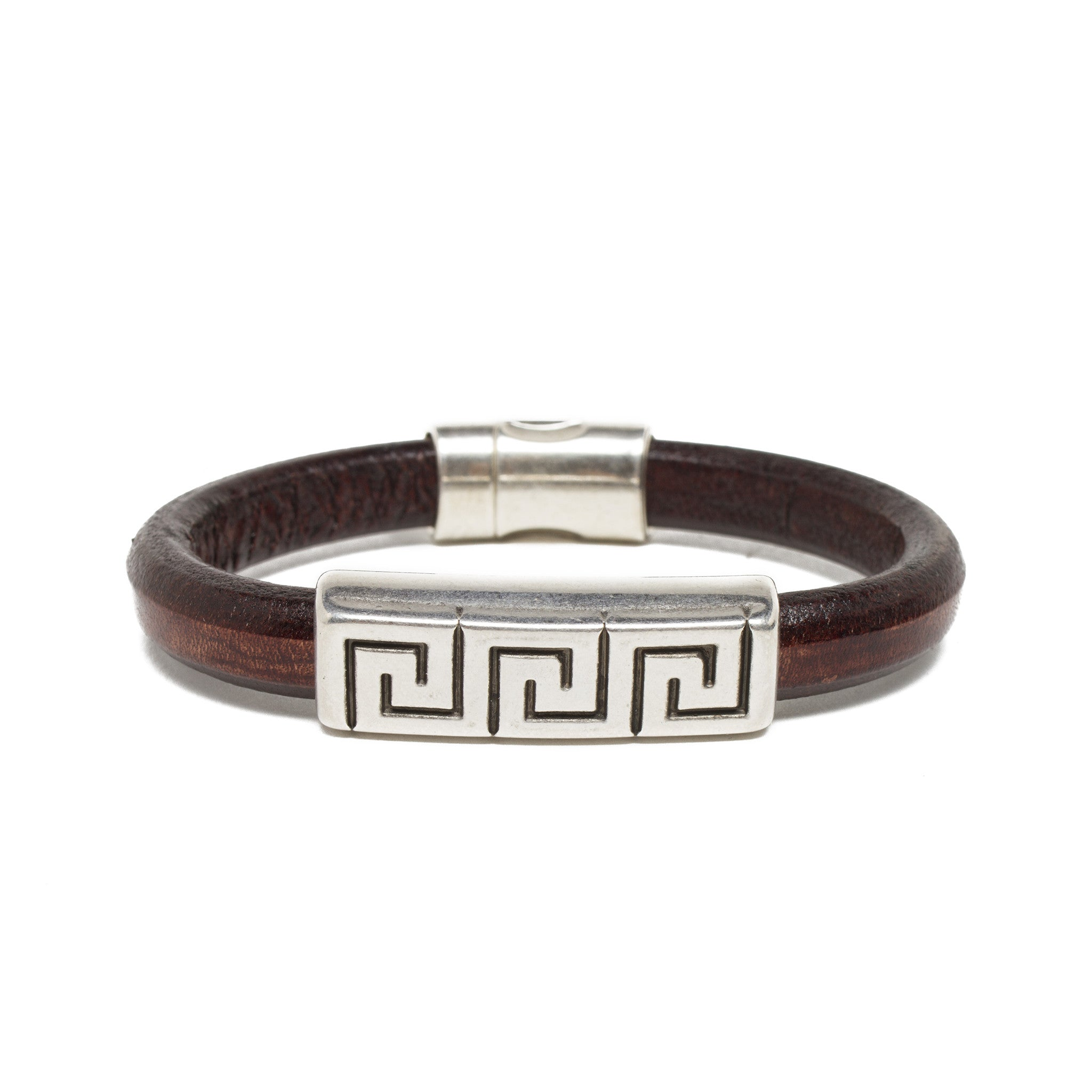leather bracelets with plaited steel bangles clasp silver bangle stainless hiho bracelet