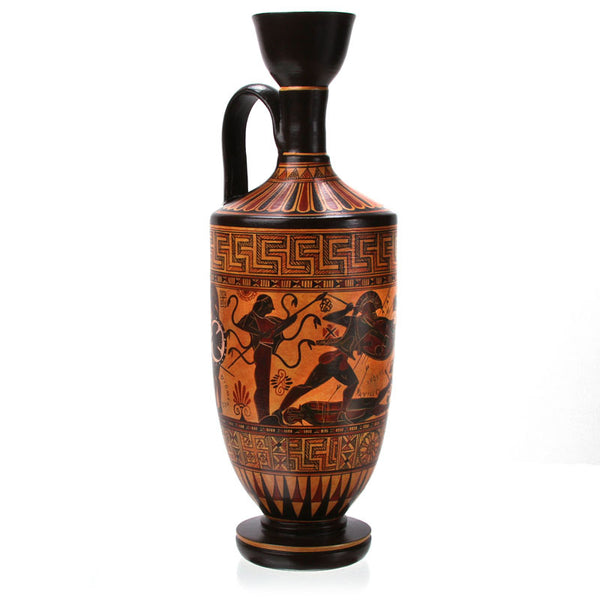 "Greek Vase - Lekythos - Replica (11 1/2"" H)"
