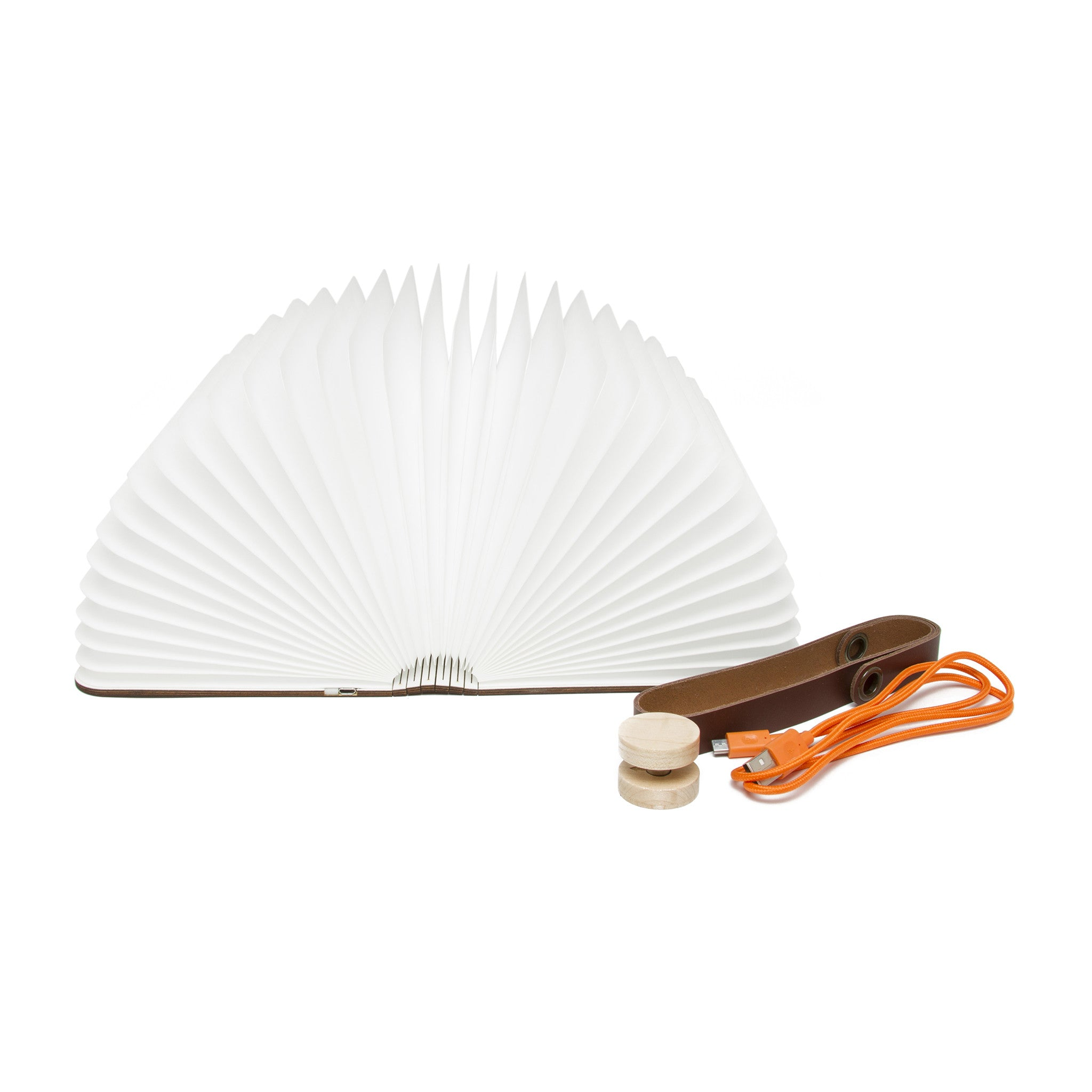 Lumio Book Light And Charger Walnut The Getty Store