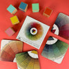 Color Wheel Coasters - Set of Four