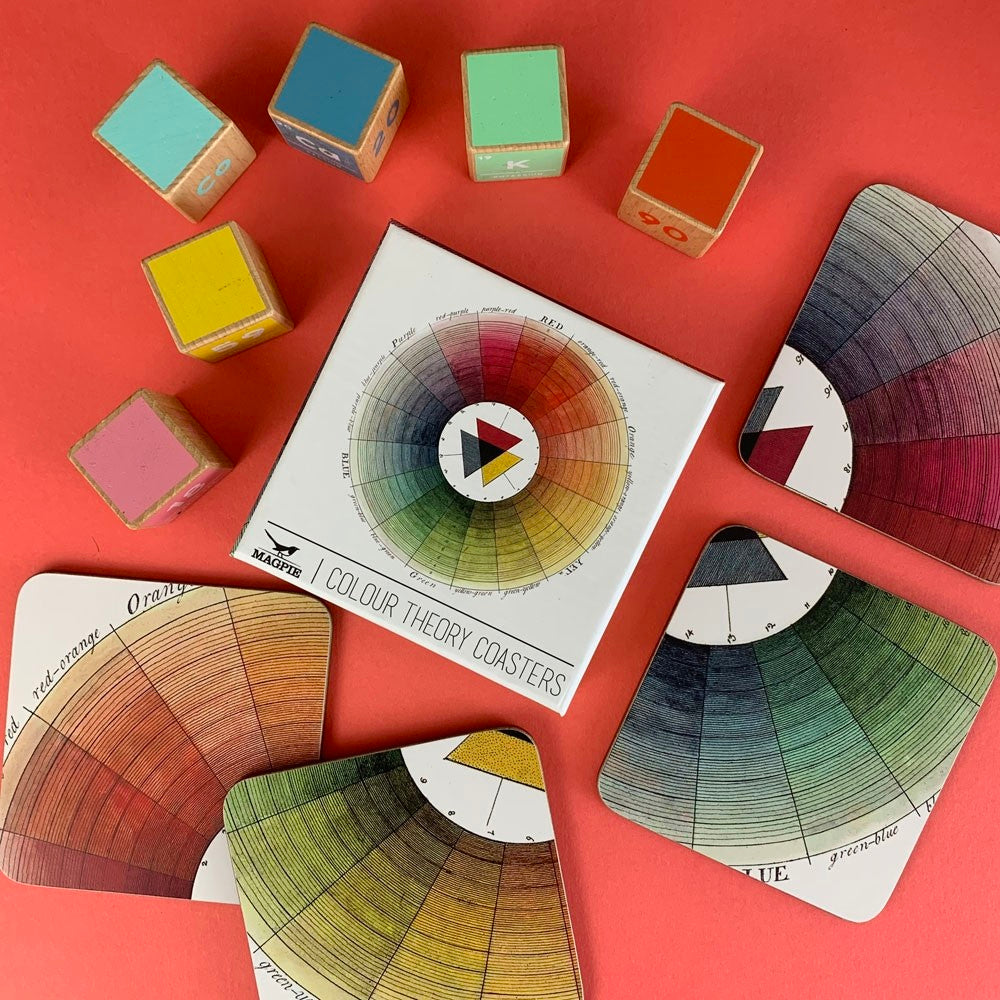 Color Wheel Coasters- Set of Four Coasters | Getty Store