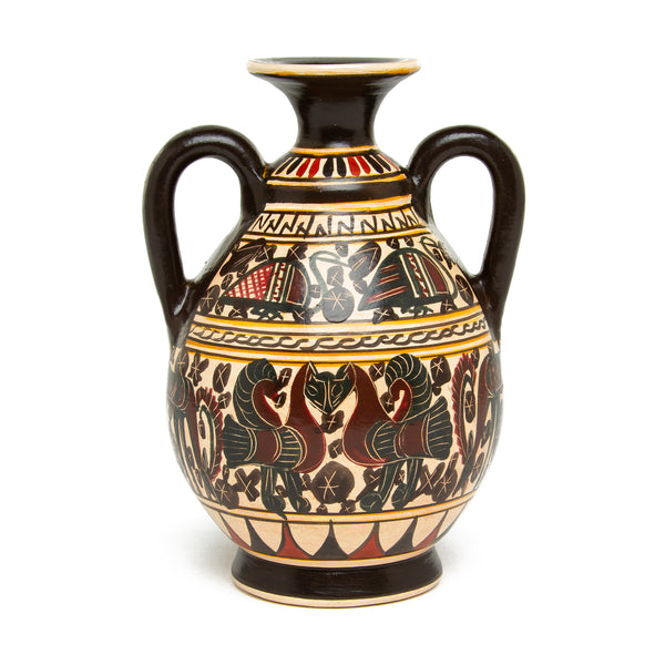 Mini Greek Amphora Vase - Corinthian