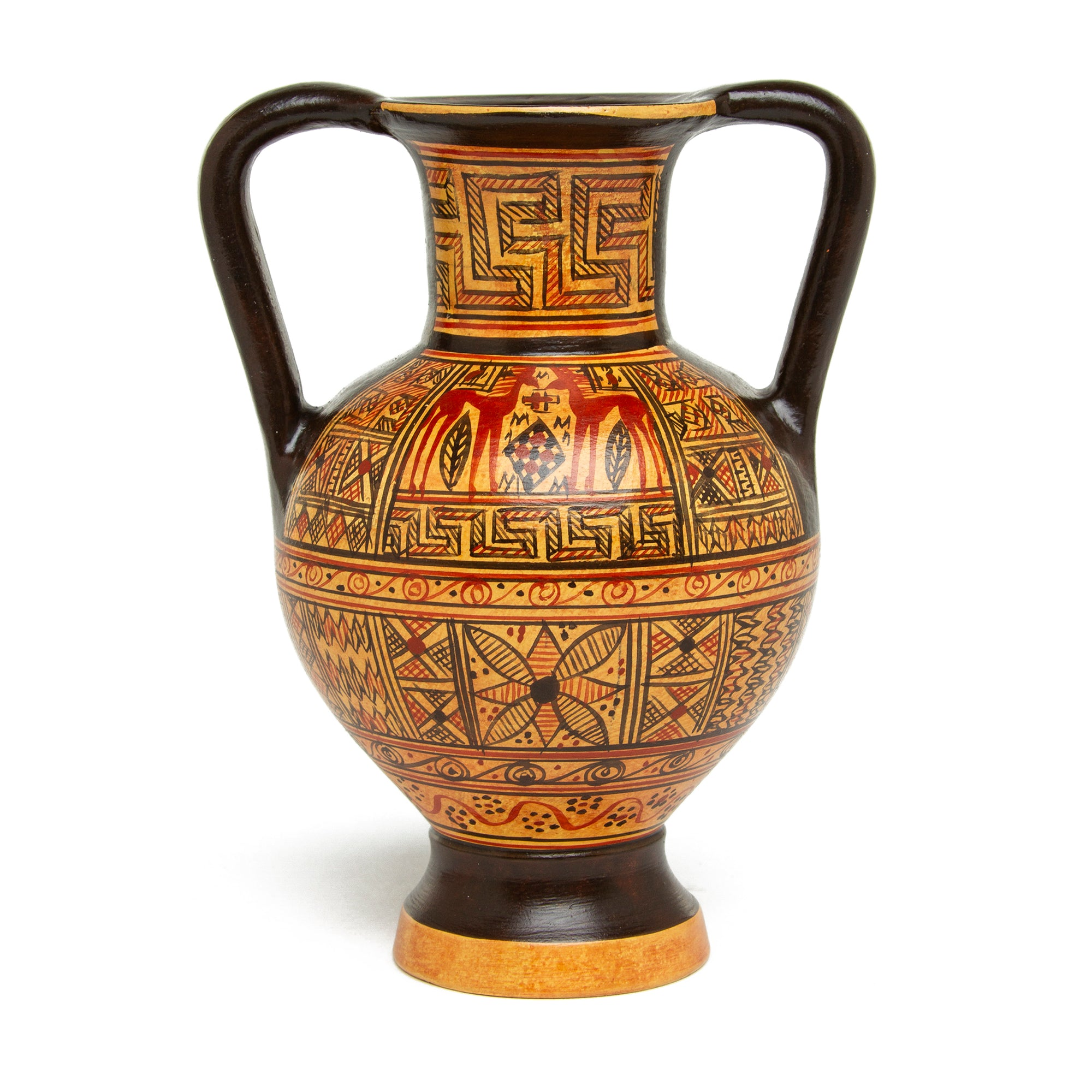 Mini Greek Amphora Vase- Geometric | Getty Store