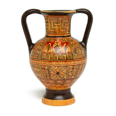 Mini Greek Amphora Vase - Geometric
