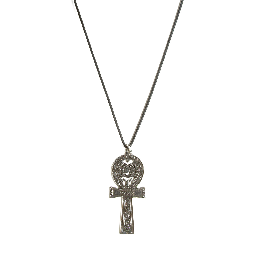 Ankh and Scarab Pendant Necklace