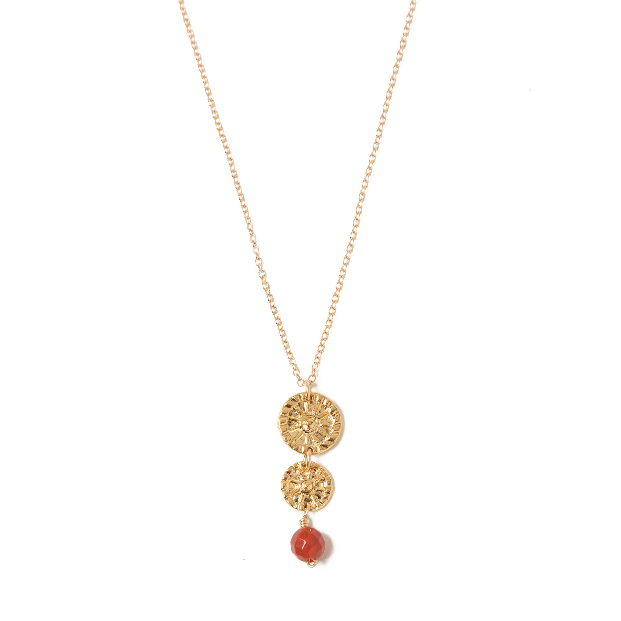 Etruscan Rosette Double Drop Necklace | Getty Store