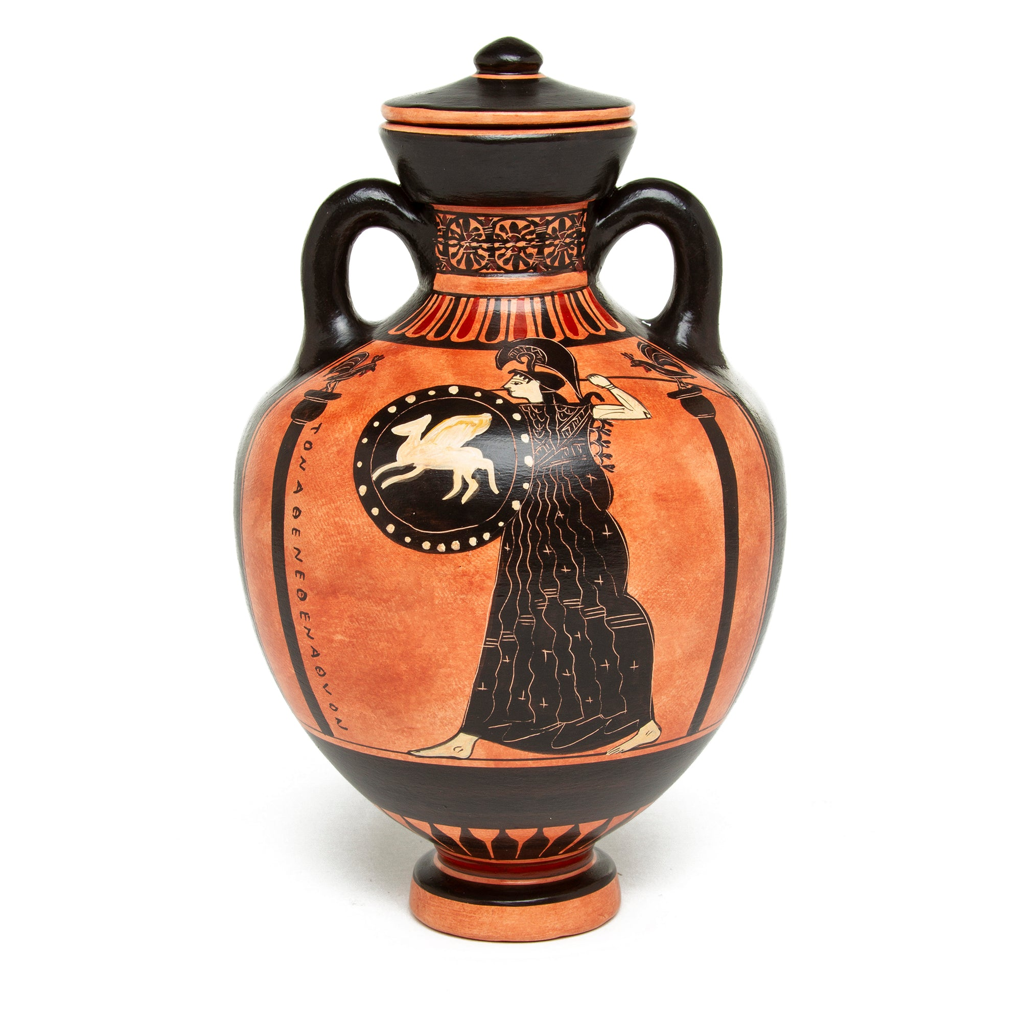 Greek Amphora Vase-Panathenaic- Athena with Pegasus Shield | Getty Store