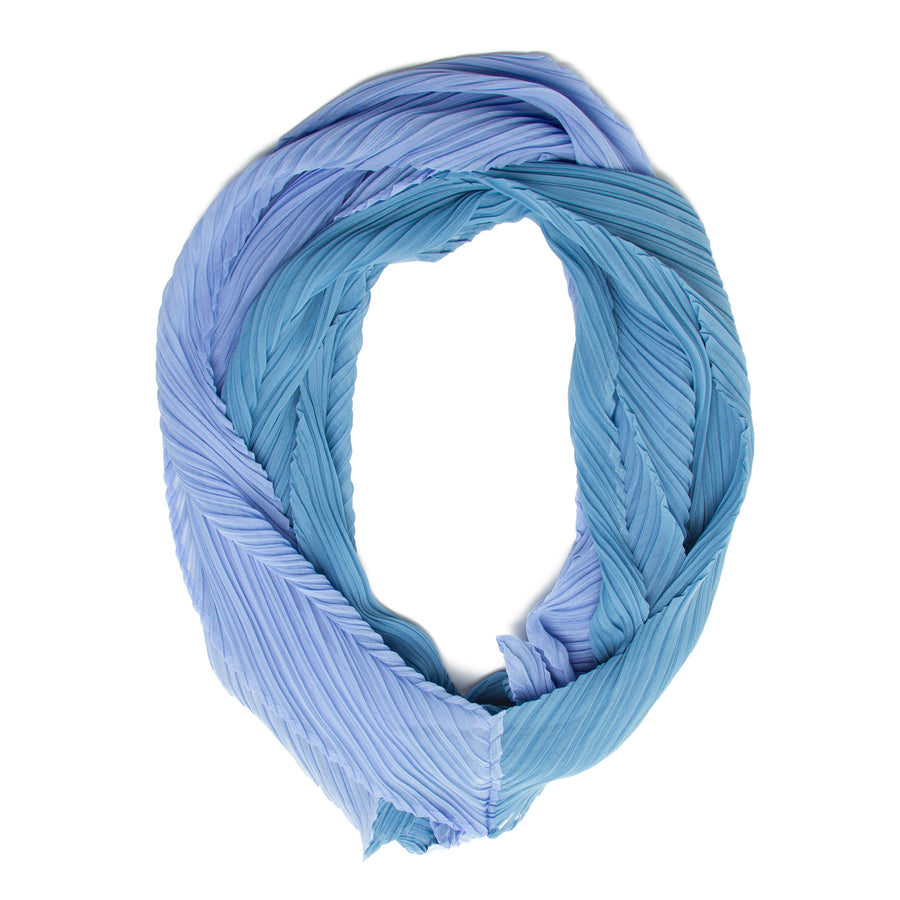 PLEATS PLEASE ISSEY MIYAKE - Infinity Scarf in Blue