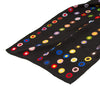 French Dot Pattern Silk Scarf - Black