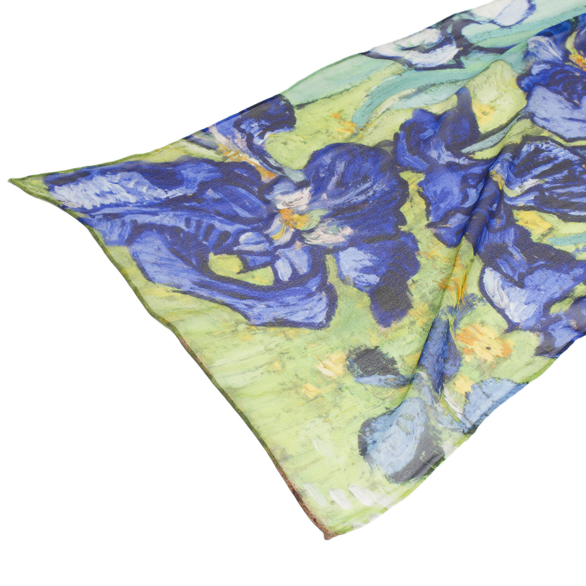 Detail of Irises Silk Scarf | Getty Store